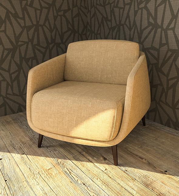 3DOcean okura armchair 11540513