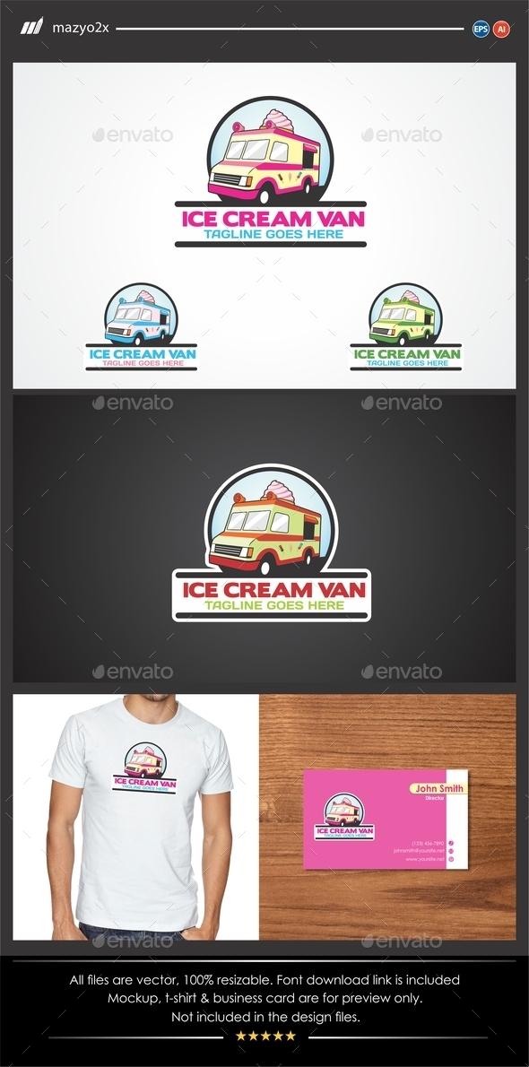 GraphicRiver Ice Cream Van Logo 11550928