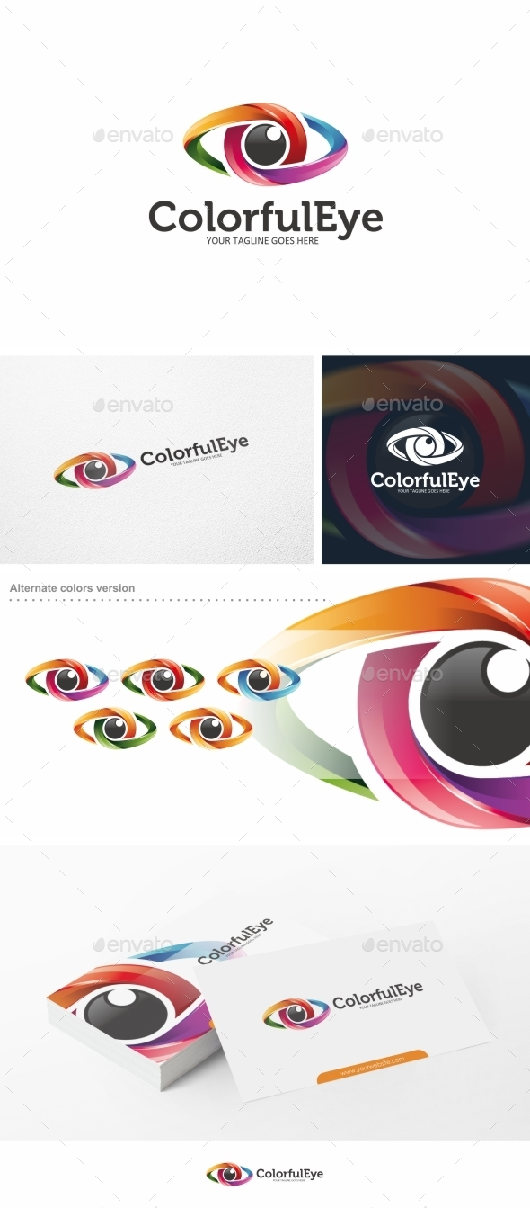 GraphicRiver Colorful Eye Logo Template Vol 02 11550969