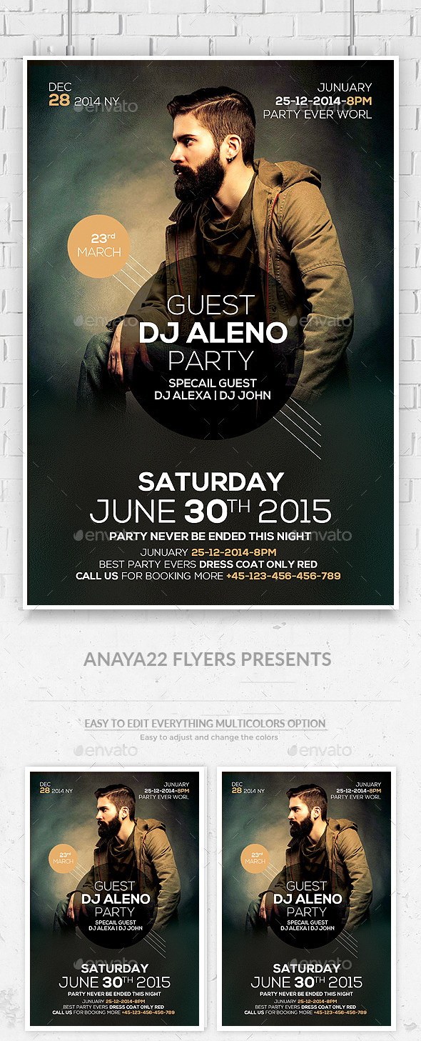 GraphicRiver Special Guest DJ Flyer 11551297