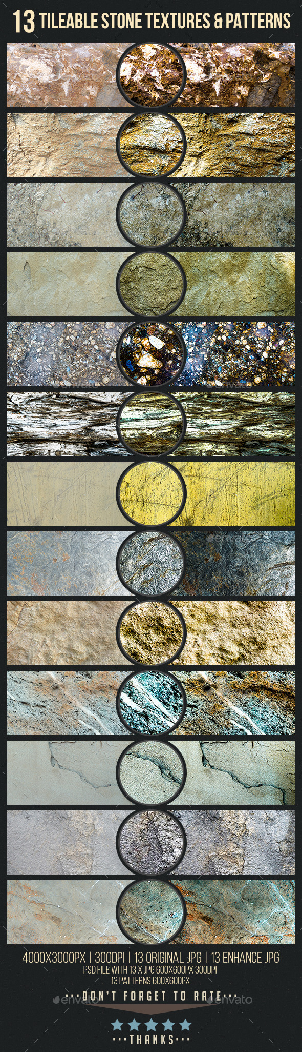 GraphicRiver 13 Tileable Stone Textures Patterns and Images 11551336