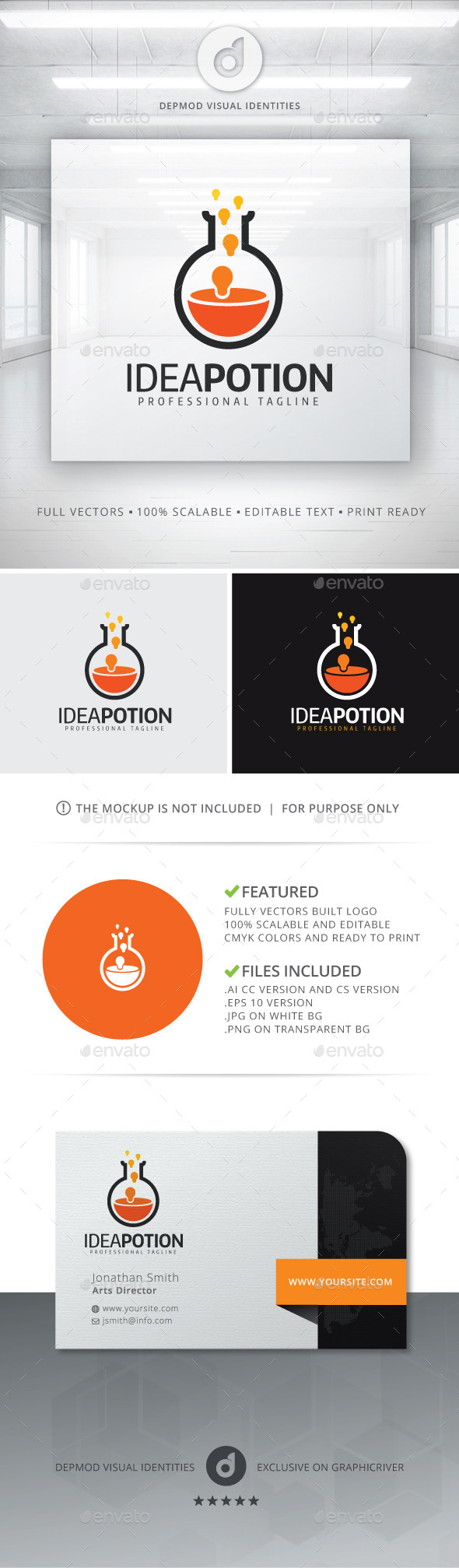 GraphicRiver Idea Potion Logo 11551558