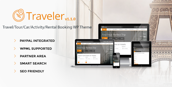 Traveler Travel Tour Booking WordPress Theme