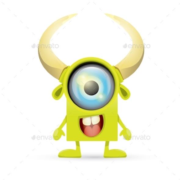 GraphicRiver Green Cartoon Monster 11551923