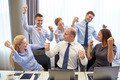 business people celebrating victory in office - PhotoDune Item for Sale
