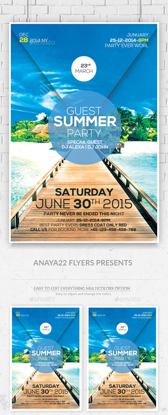 GraphicRiver Summer Party Flyer 11552388