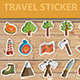 Travel Sticker Icon set