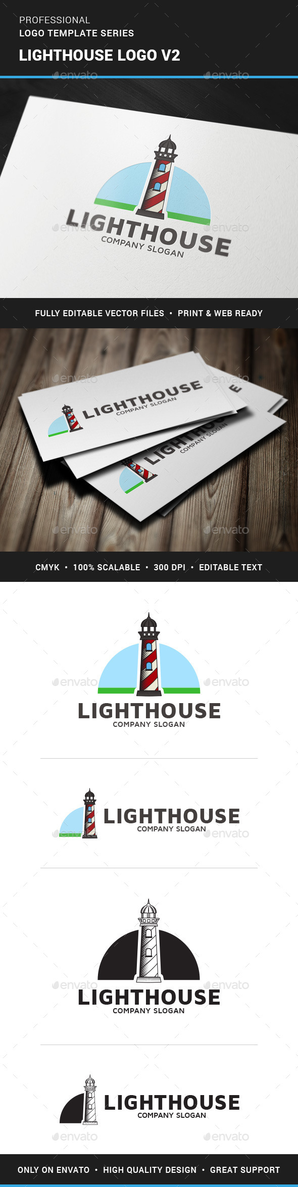 GraphicRiver Lighthouse Logo Template v2 11552715