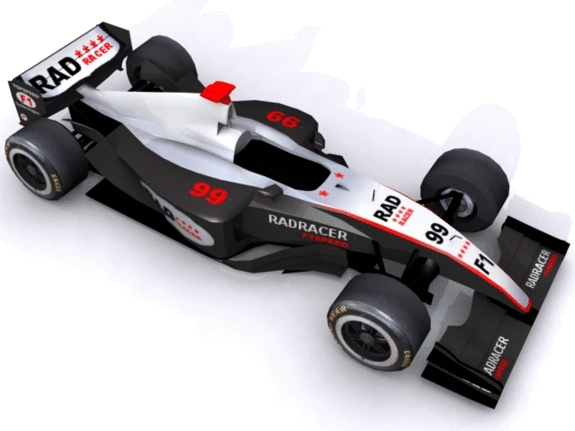 3d F1 Car Formula F DOcean Item for