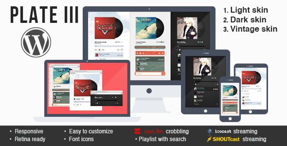 CodeCanyon Plate III music & streaming plugin for Wordpress 11552808