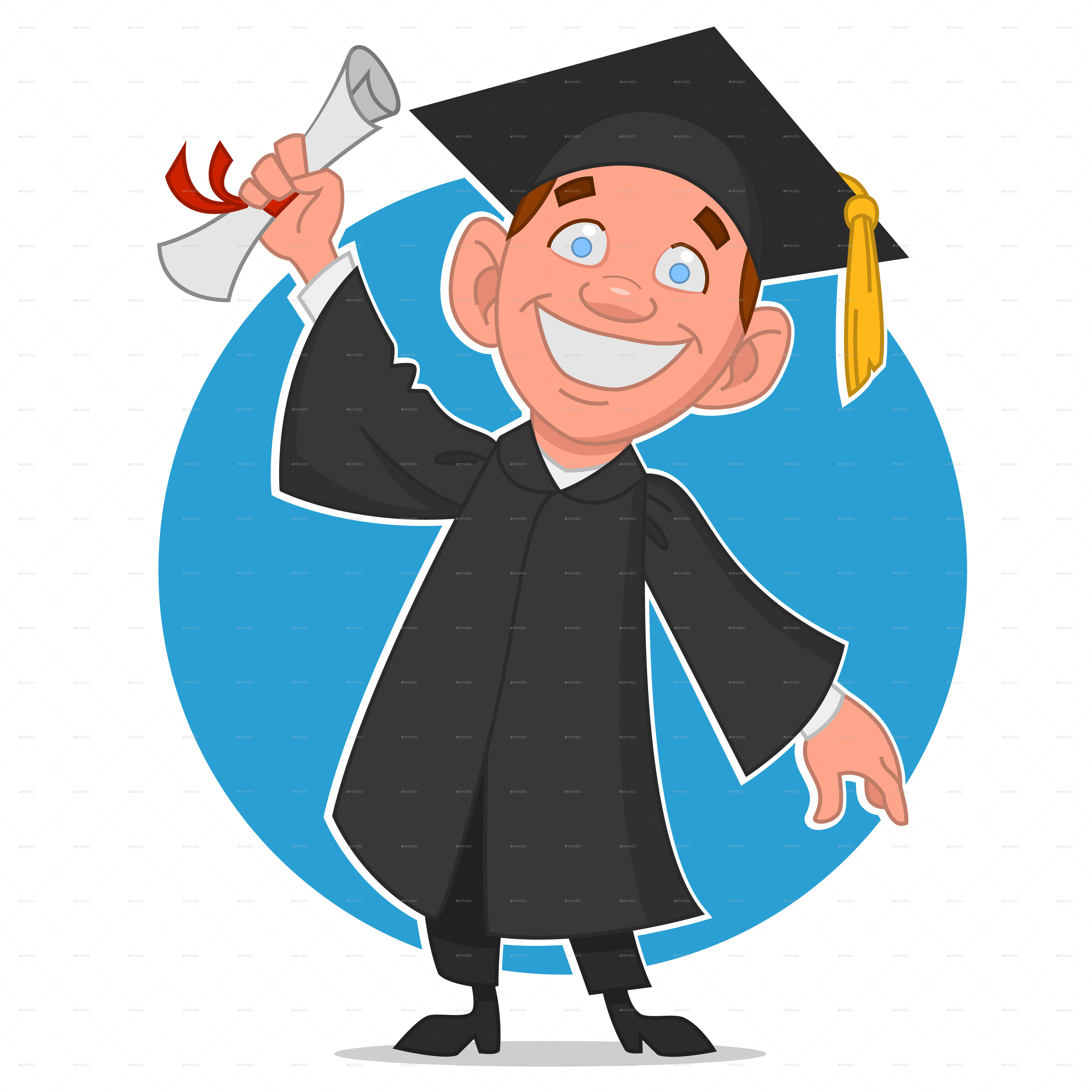 graduate with a diploma by gatts graphicriver