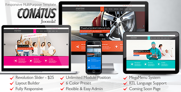 ThemeForest Conatus Responsive MultiPurpose Joomla Template 11552849