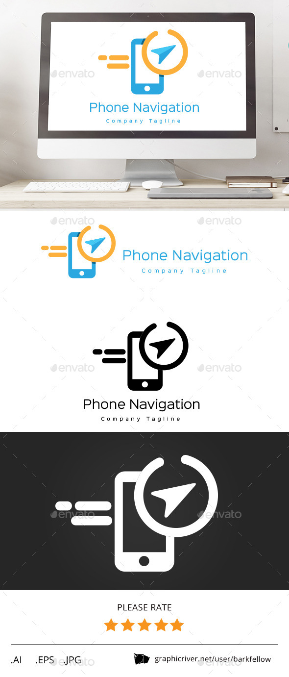 GraphicRiver Phone Navigation Direction Logo 11553218