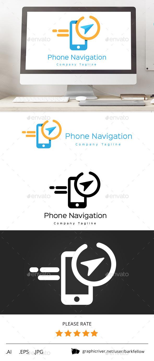 GraphicRiver Phone Navigation Direction Logo 11553218
