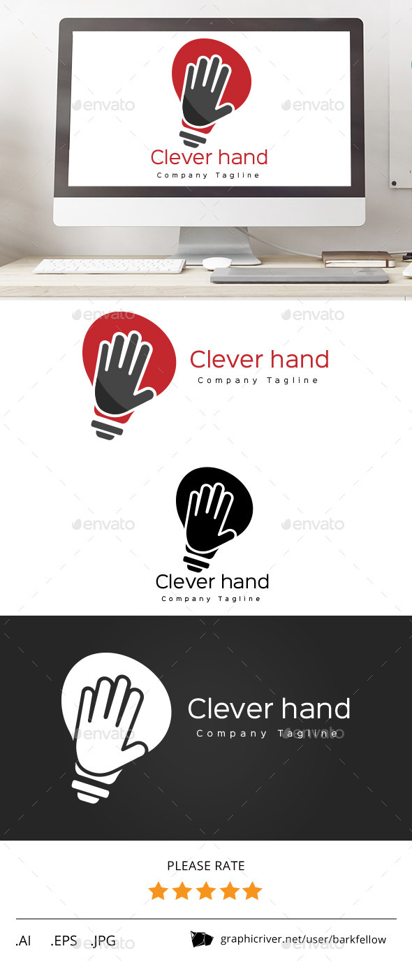 GraphicRiver Smart Hand Solution Logo 11553273