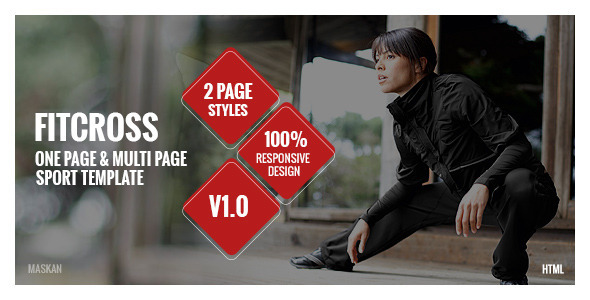 ThemeForest FitCross Responsive Sport Gym and Fitness Template 11553357