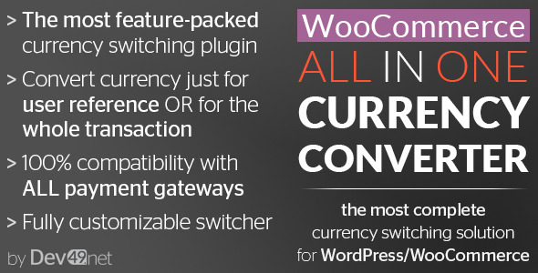 CodeCanyon WooCommerce All in One Currency Converter 11519287