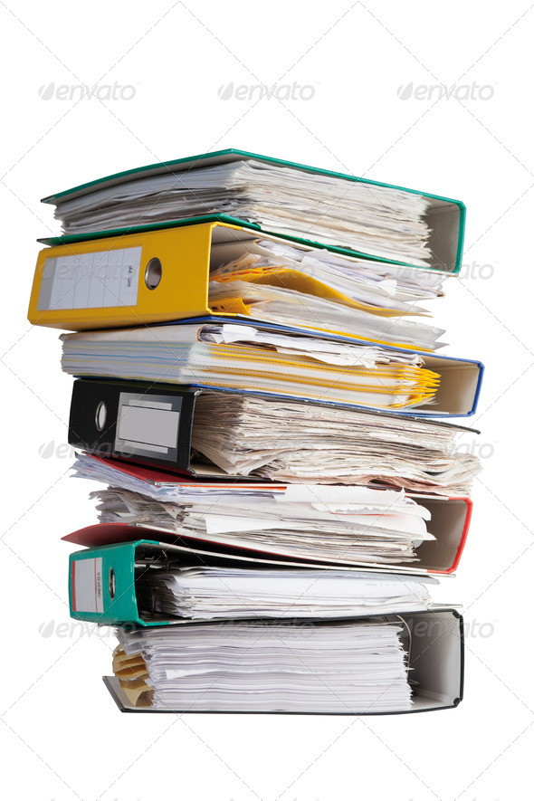 Stock Photo - PhotoDune The pile of file binder with papers 1159373