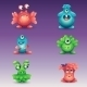 Set of Colored Cartoon Monsters - GraphicRiver Item for Sale