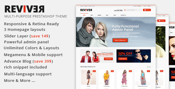 ThemeForest JMS Reviver Responsive Prestashop Theme 11553769