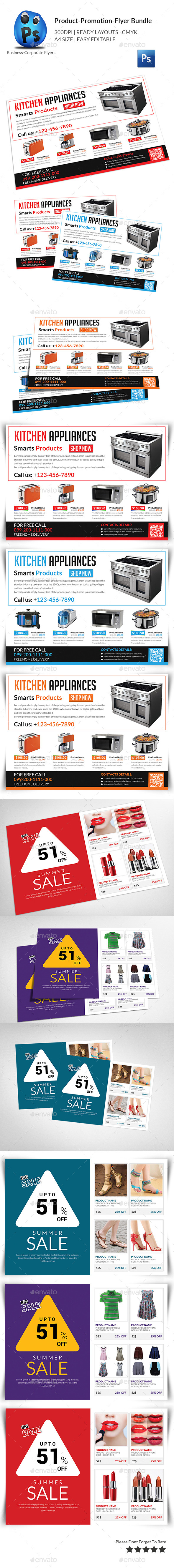 GraphicRiver Product Promotion Flyer Bundle 11553930