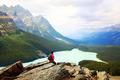 Hiker in banff national park - PhotoDune Item for Sale
