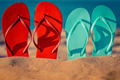 Flip-flops on the sand - PhotoDune Item for Sale