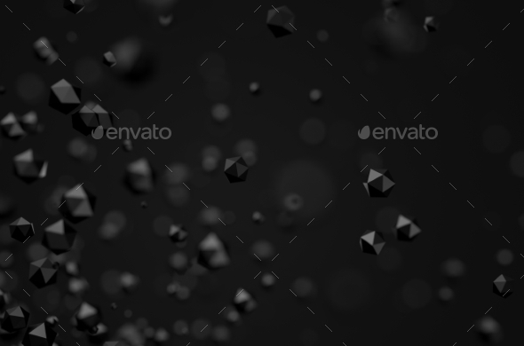 GraphicRiver Abstract Rendering Of Low Poly Chaotic Particles 11554170