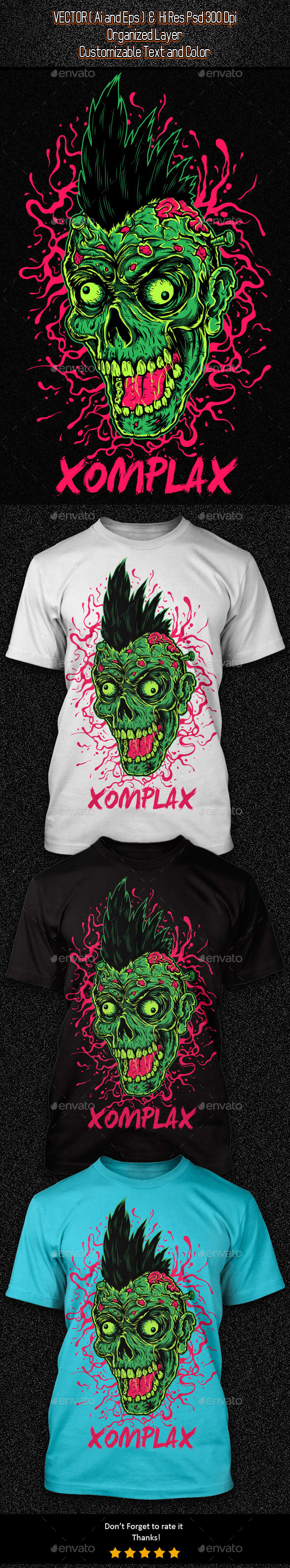 GraphicRiver Zombie Punk Illustration 11554171