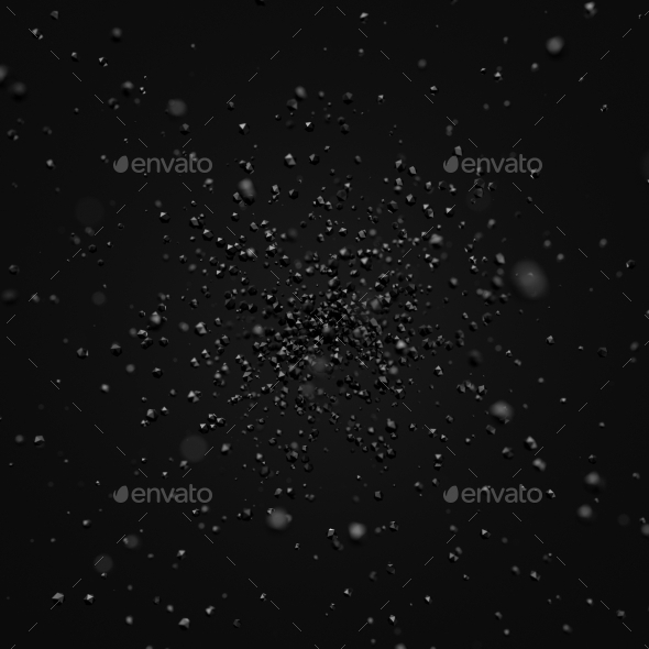 GraphicRiver Abstract Rendering Of Low Poly Chaotic Particles 11554249