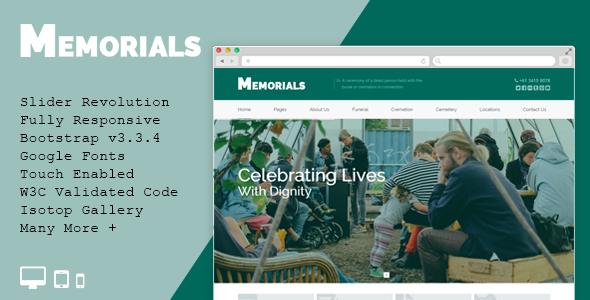 ThemeForest Memorials Funeral & Cemeteries HTML5 Template 11482211