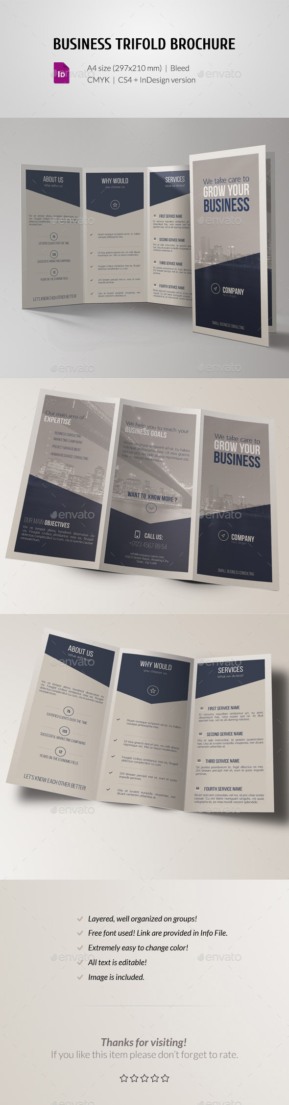 GraphicRiver Corporate Business Trifold Brochure 11448644