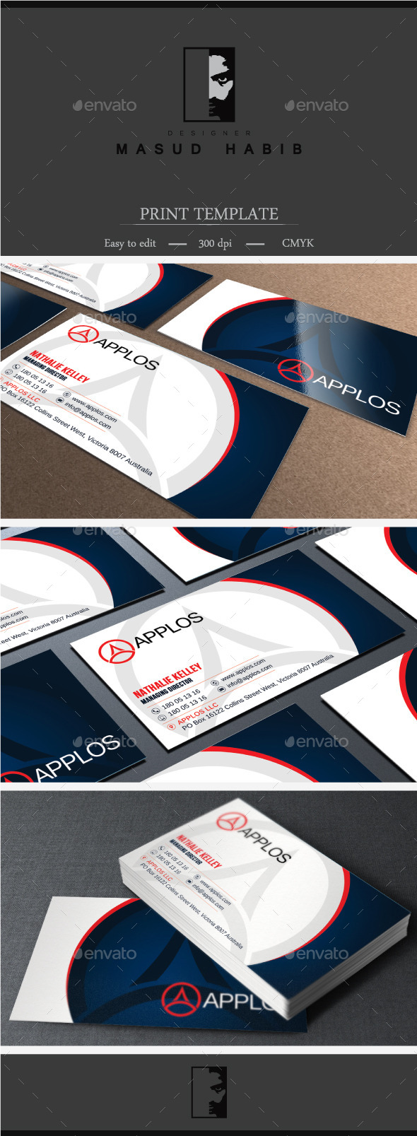 GraphicRiver Blue Corporate Business Card 01 11554462