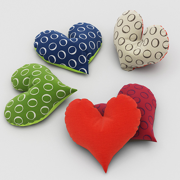 Pillows Heart - 3DOcean Item for Sale