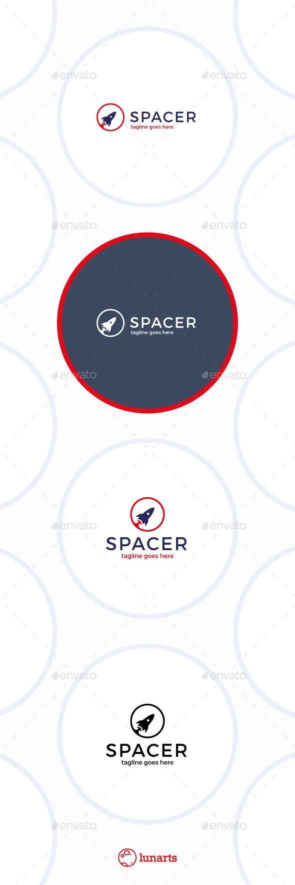 GraphicRiver Space Rocket Logo 11554493