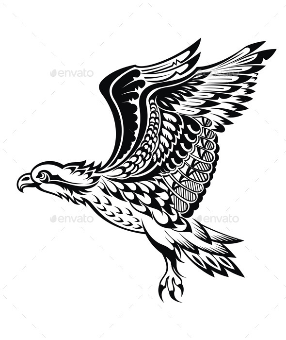 GraphicRiver Hand Drawn Eagle 11554496