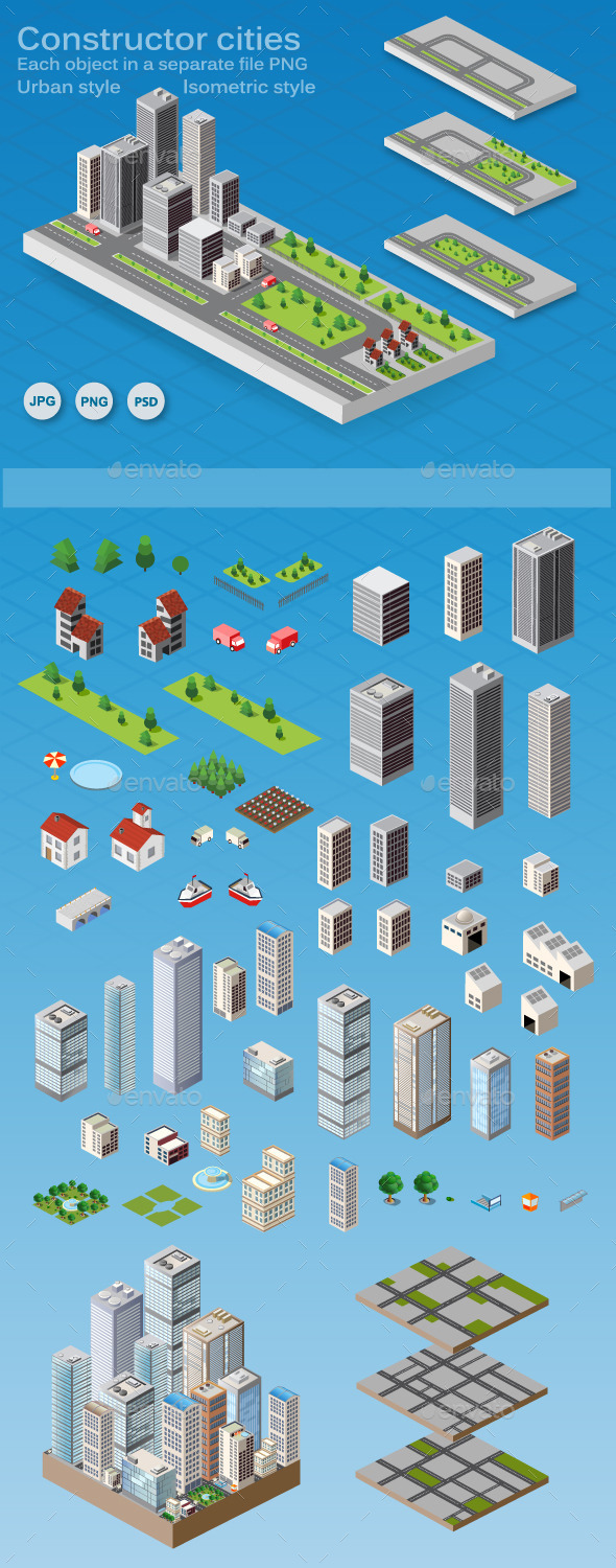 GraphicRiver Constructor Cities 11554707