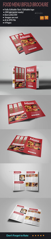 GraphicRiver Food Menu Bi fold Brochure 11554743
