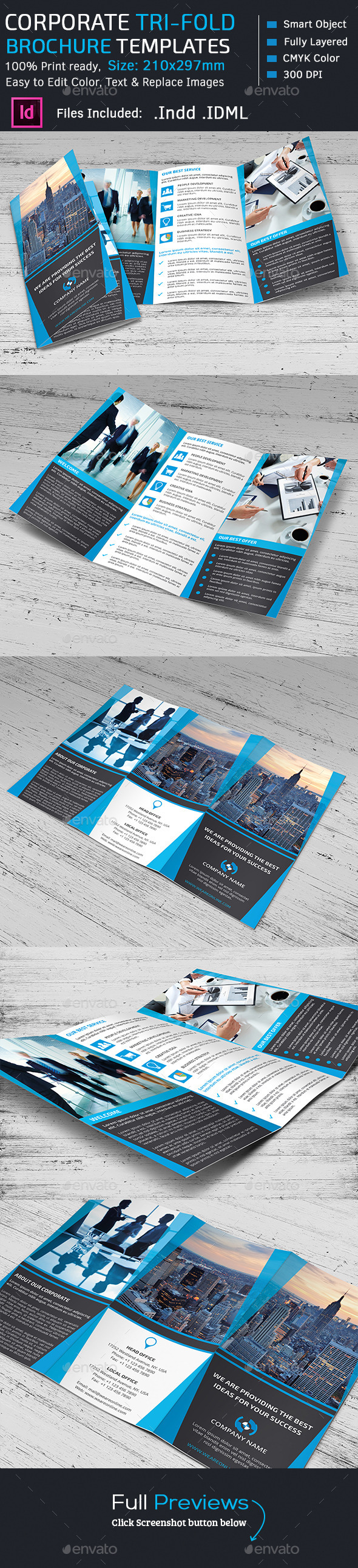 GraphicRiver Corporate Marketing Tri-Fold Brochure 11554760