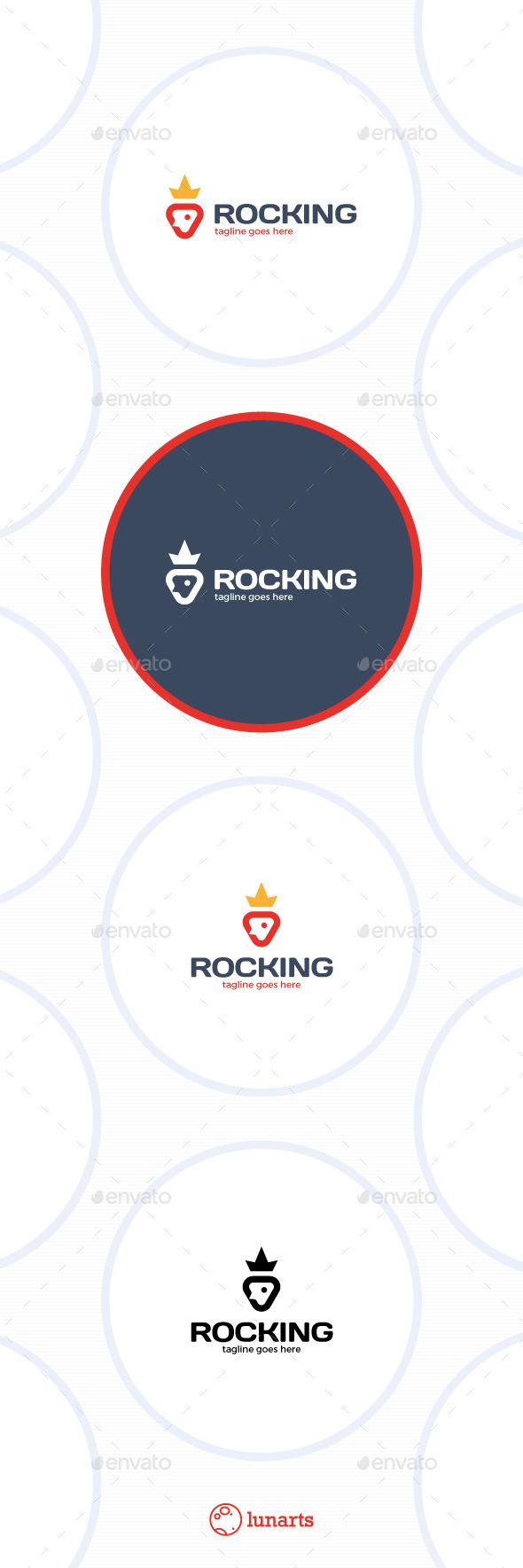 GraphicRiver Rocket King Crown Logo 11554775