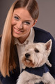Smiling girl and Westie dog - PhotoDune Item for Sale