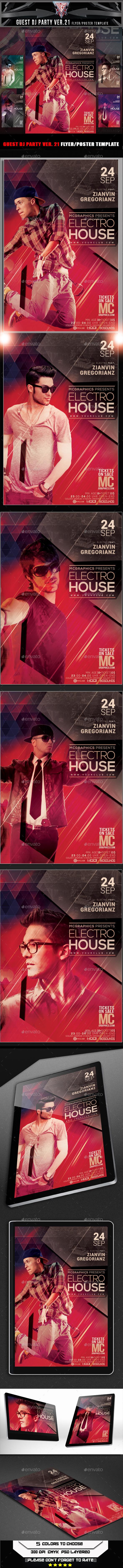 GraphicRiver Edit Guest DJ Party Ver 21 Flyer Template 11554855