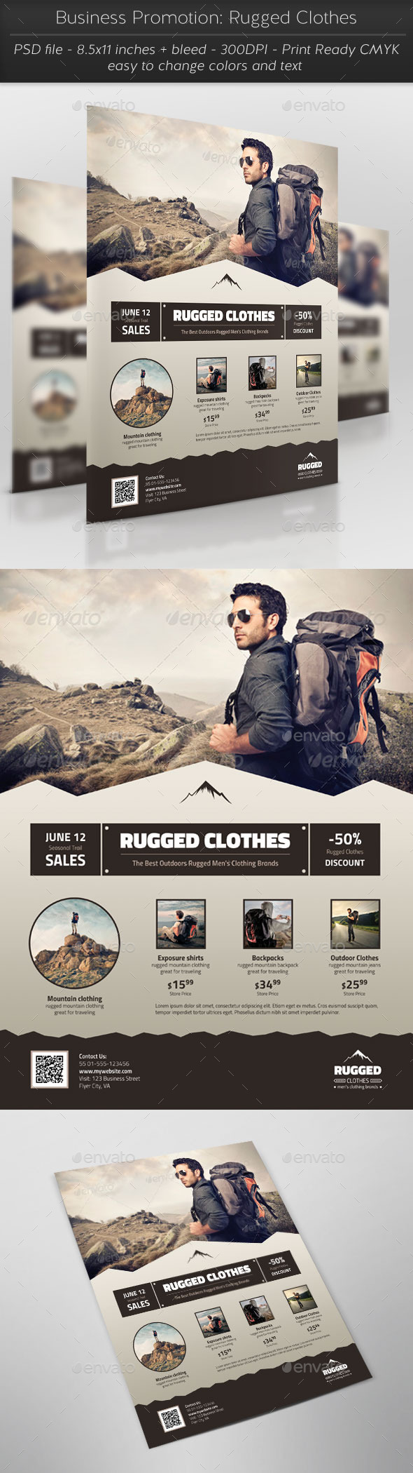 GraphicRiver Business Promotion Rugged Clothes 11554860