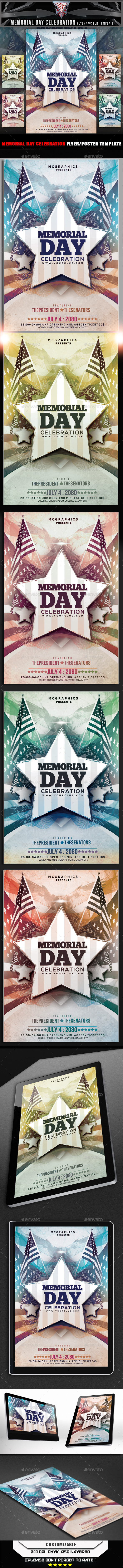 GraphicRiver Memorial Day Celebration Flyer Template 11554894