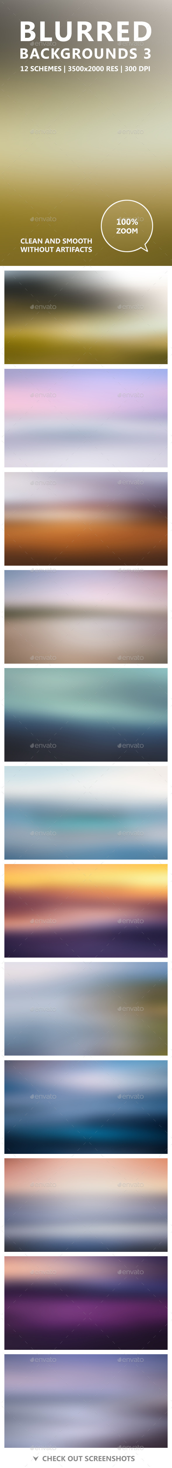 GraphicRiver Blurred Backgrounds 3 11554916