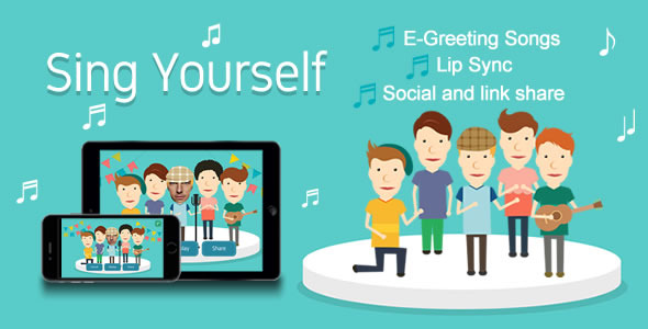 CodeCanyon Sing Yourself Greeting Card HTML5 Canvas 11539818