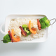 Vegetable skewer and white rice - PhotoDune Item for Sale