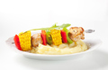 Shish kebab and mashed potato - PhotoDune Item for Sale