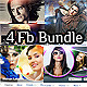 4 Facebook Timeline Cover Bundle V2 - GraphicRiver Item for Sale