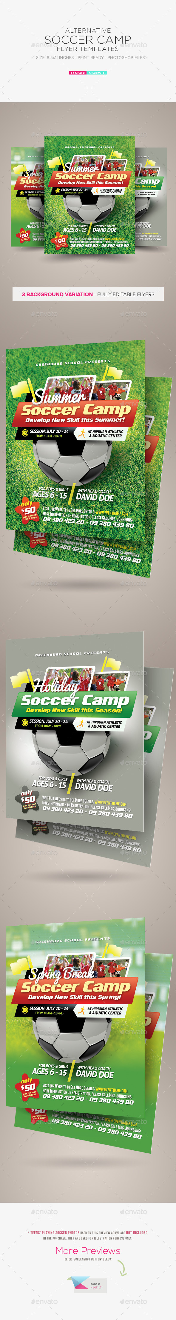 GraphicRiver Soccer Camp Flyer Templates 11555823